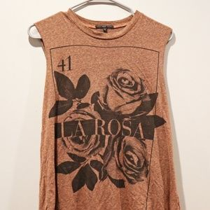 Rust Colored Muscle Tee
